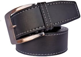 Sunshopping Men'S Black Leatherite Needle Pin Point Buckle Belt