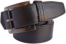 Sunshopping Men Black Synthetic leather Belt (Size: 32 , Pack of 1 )