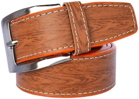 Sunshopping Men Tan Synthetic leather Belt (Size: 42 , Pack of 1 )