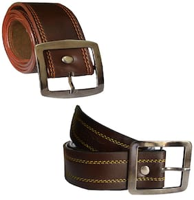 Sunshopping men's Brown and Tan  belts combo