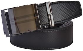 Sunshopping men's Black Auto Lock Buckle Leatherite belt