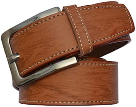 Sunshopping men's tan leatherite needle pin point buckle belt
