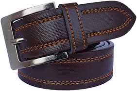 Sunshopping Men Brown Synthetic leather Belt (Size: 38 , Pack of 1 )