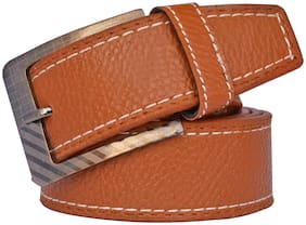 Sunshopping Men Tan Synthetic leather Belt (Size: 30 , Pack of 1 )