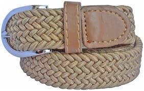Women Synthetic Belts ( Cream )