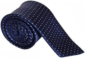 Sunshopping men's navy blue Microfiber narrow tie