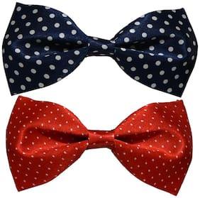 Sunshopping men's multi coloured neck bow tie (Pack of 2)