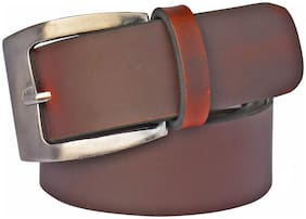 Sunshopping Men's Brown Leatherite Needle Pin Point Buckle Belt