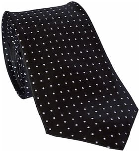 Sunshopping men's black Microfiber narrow tie