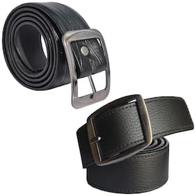Sunshopping men's Black Leatherite belts combo