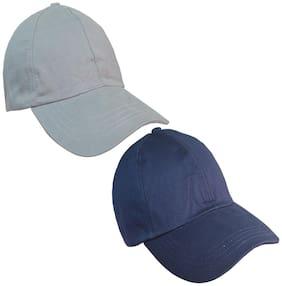 Sunshopping men's grey and navy blue baseball cap (pack of two)