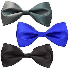 Sunshopping men's multi coloured neck bow tie (Pack of 3)