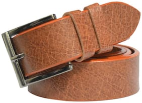 Sunshopping men's tan colour non leather needle pin point buckle Belt size 28 to 40