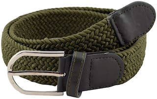 Sunshopping Unisex Green Synthetic leather Belt (Size: 28 , Pack of 1 )