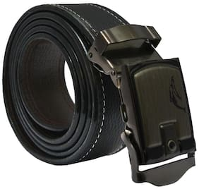 Sunshopping men's black leatherite auto lock buckle belt (size from 28 to 42 )