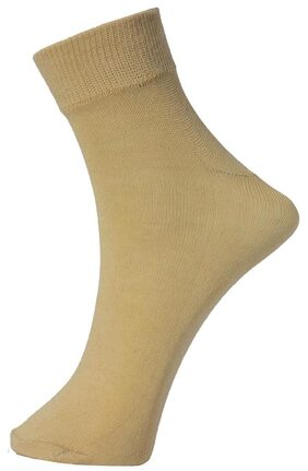 Tadd Men Cotton Crew Length Socks - Beige ( 1 )