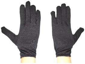 Tahiro Black Cotton Biker Driving Gloves - Pack OF 1