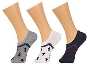 Tahiro Multicolour Cotton Designed Footies Loafer Socks - Pack Of 3