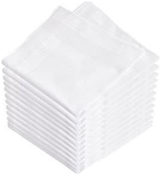 Tahiro White Cotton Handkerchiefs - Pack Of 6