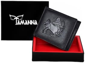 Tamanna Men Black Leather Long Wallet ( Pack of 1 )