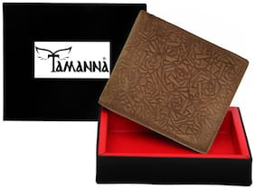 Tamanna  Men Brown Genuine Leather Wallet  (6 Card Slots