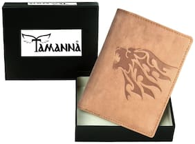 Tamanna Men Tan Leather Bi-Fold Wallet ( Pack of 1 )