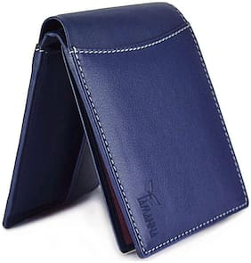 Tamanna Men Blue Leather Long Wallet ( Pack of 1 )