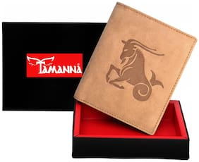 Tamanna  Men Tan Genuine Leather Wallet  (6 Card Slots
