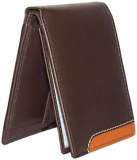 Tamanna Men Brown Leather Bi-Fold Wallet ( Pack of 1 )