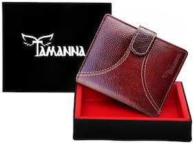 Tamanna Men Brown Genuine Leather Wallet  (7 Card Slots)