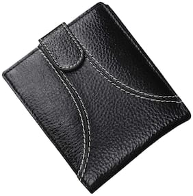 Tamanna Men Black Leather Bi-Fold Wallet ( Pack of 1 )
