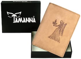 Tamanna Men Tan Leather Bi-Fold Wallet ( Pack of 1 )