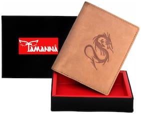 Tamanna  Men Tan Genuine Leather Wallet  (6 Card Slots)