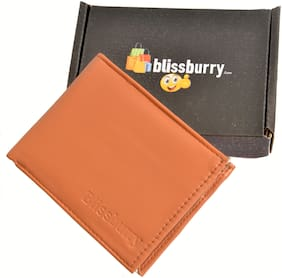 Tan Genuine Artificial Leather Wallet