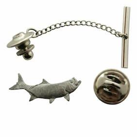 Tarpon Tie Tack ~ Antiqued Pewter ~ Tie Tack or Pin
