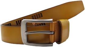 The Beige Designer 100% Genuine Leather Belt