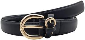 The Black Fashion Belt with Belt Loop