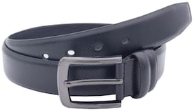 The Black Saffiano Textured Formal Belt