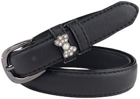 The Black Women Fancy Belt with Diamond Loop