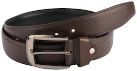The Brown Textured Formal Belt