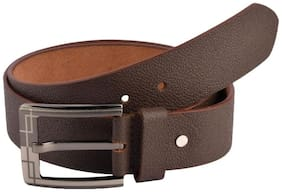 The Brown Textured Formal Leather Belt