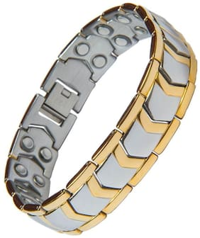 The Jewelbox Men Metal Bracelets - Gold