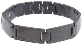 ZIVOM Bio Magnetic Super Light Weight Black Titanium Mens Boys Bracelet