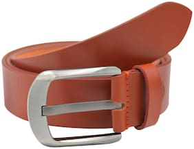 The Tan Textured Genuine Leather Casual Belt