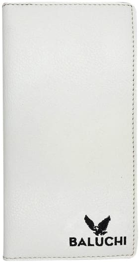 The White Textured Long Wallet