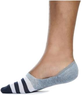 Three Shades Multi Cotton No show socks ( 1 pair )