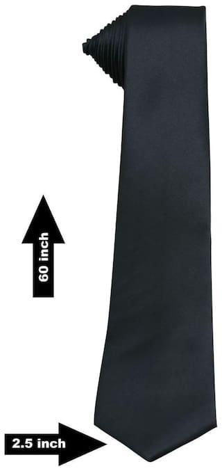 TIE BLACK  And Formal  and Tie Solid Tie Slim Solid Men's Tie office tie