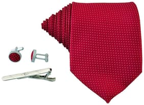 TIE COMBO SET RED N WHITE DOT
