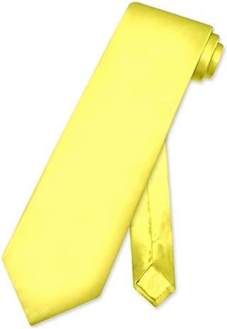 TIE Men Silk Regular Long Tie -Yellow