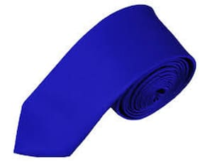 TIE Men Silk Regular Long Tie -Blue